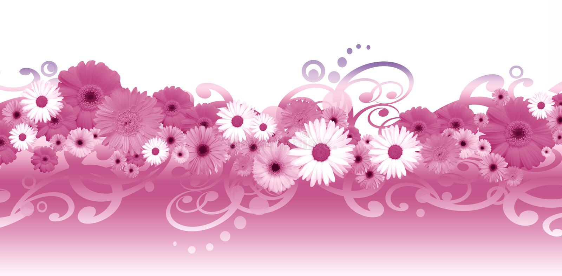 Blumenzeile vektor abbildung