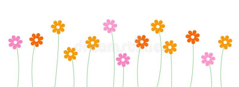Blumenzeile/-teiler stock abbildung