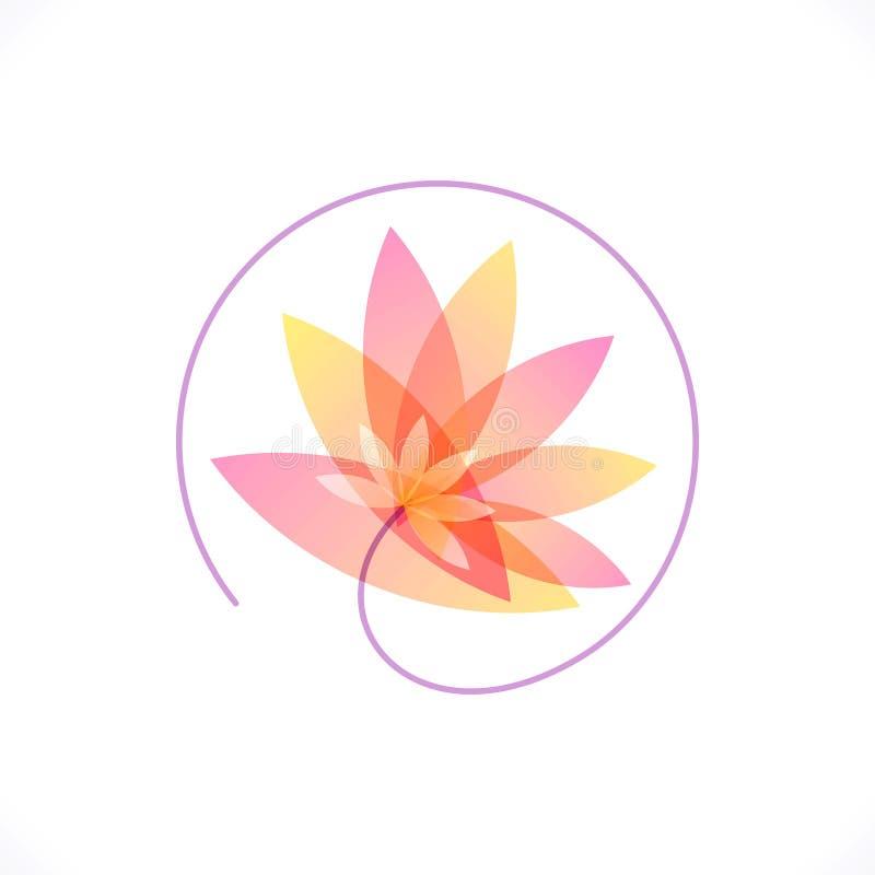 Blumenzusammenfassungs-Designschablone Gesundheit u. BADEKURORT vektor abbildung