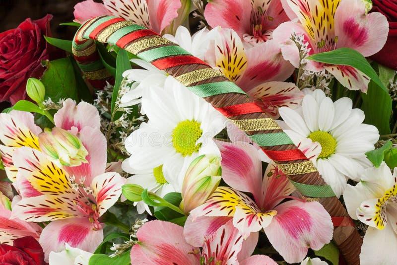 Blumenzusammensetzung stockbild
