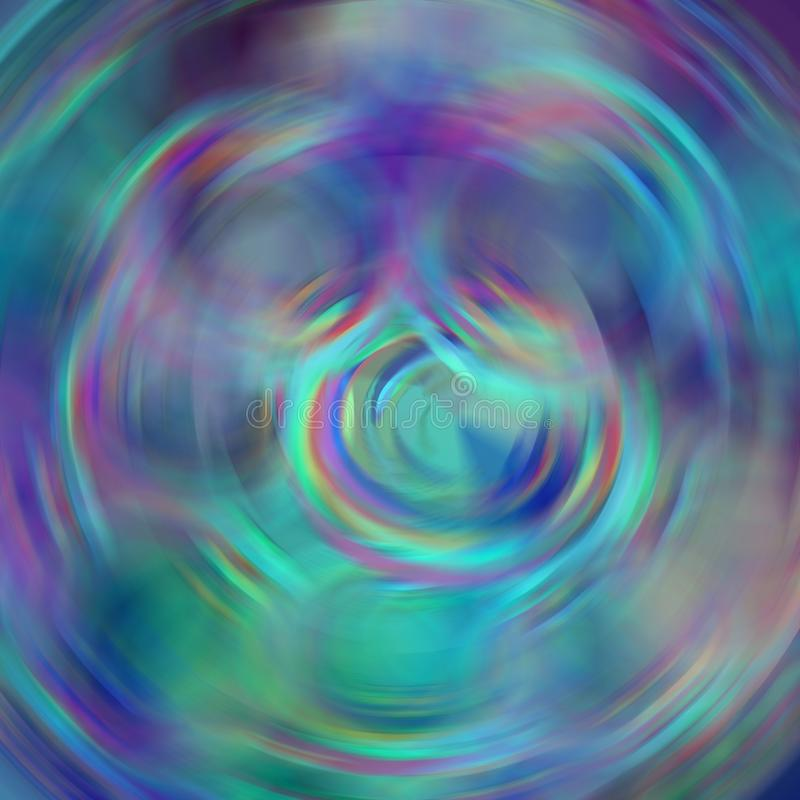 Blur abstract background with circle whirl elements in blue, purple, turquoise, red. Blur psychedelic abstract background with circle whirl elements in blue royalty free stock photography
