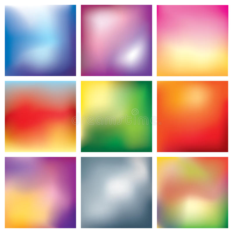 Blur abstract background set royalty free illustration