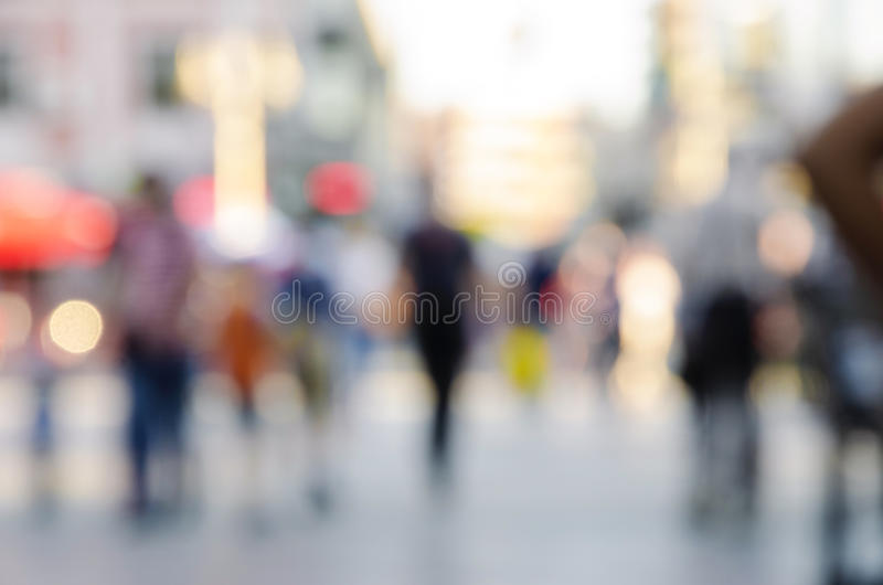 Blur abstract people background. Unrecognizable Pedestrians in modern city street, blur abstract people background