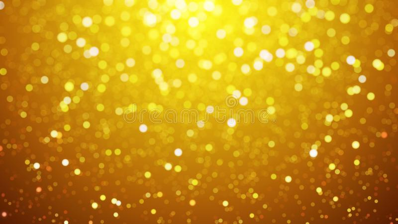 Blur background with bokeh effect, Out of focus background. Colo. Rful lights bokeh on background gold light, background, blur dust motion graphic, Particle stock illustration