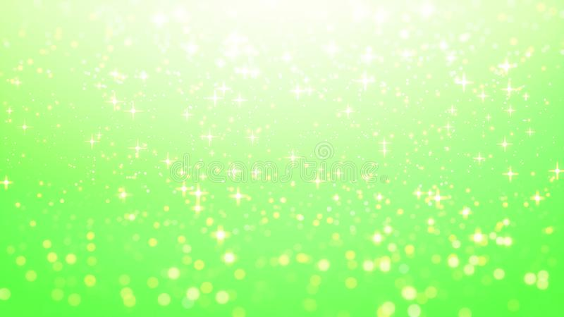 Blur background with bokeh effect, Out of focus background. Colo. Rful lights bokeh on green background, blur dust motion graphic, Particle motion, green vector illustration