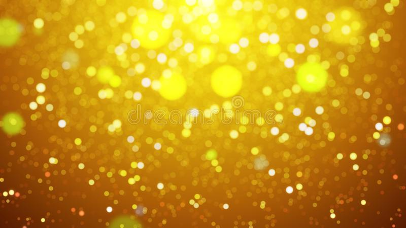 Blur background with bokeh effect, Out of focus background. Colo. Rful lights bokeh on background gold light, background, blur dust motion graphic, Particle royalty free illustration