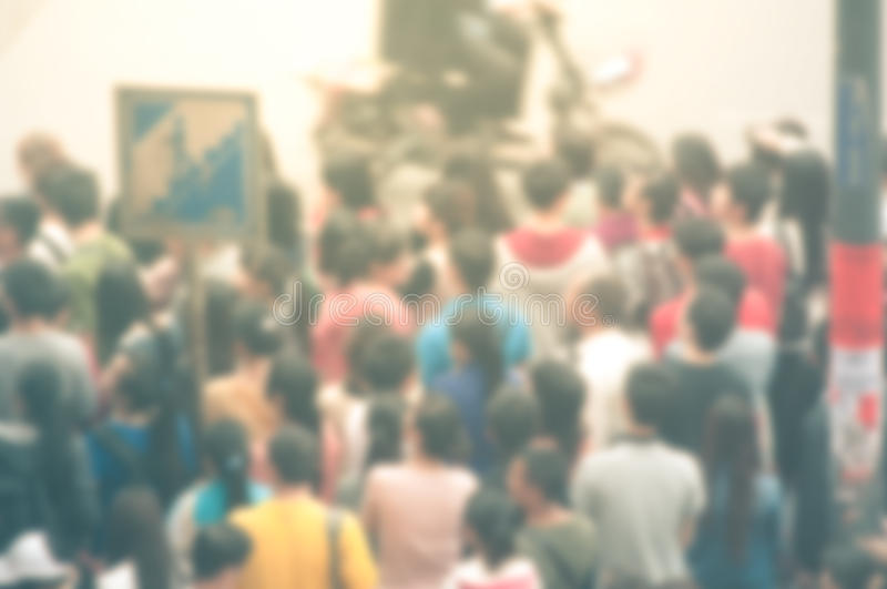 Blur background of people stock photo