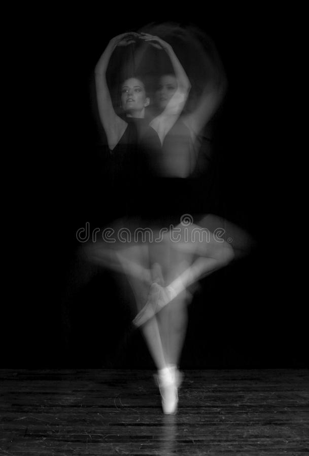 Download Blur of Ballerina Spinning stock photo. Image of pointe - 22604736