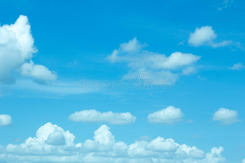 Blur blue sky and cloud, cloud stock photo