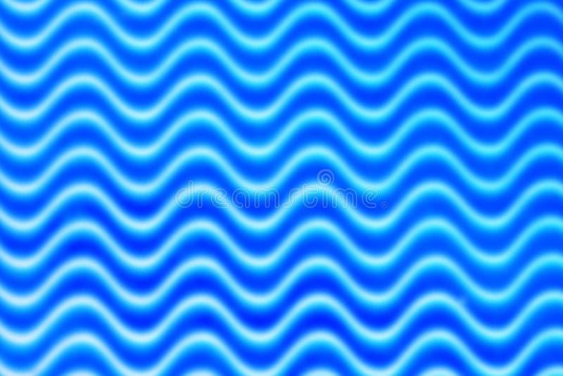 Blur Blue Waves Pattern. Abstract blue blur geometric curvy waves pattern stock photos
