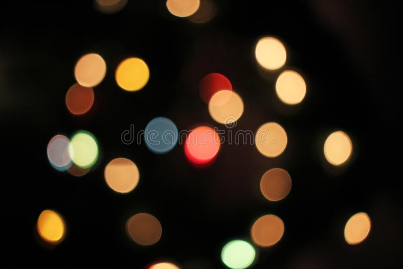 Blur blurred defocused christmas lights bokeh light dots stock image