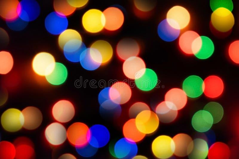 blur bokeh christmas enhaced lights στοκ εικόνα