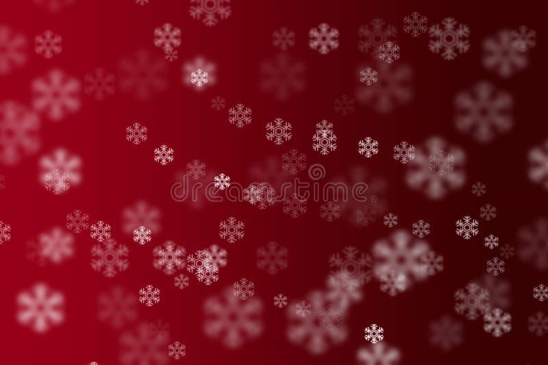 Blur bokeh falling snowflakes Christmas background royalty free stock photo