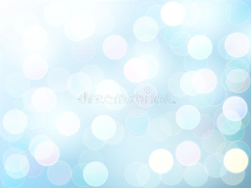 Blur bokeh light effect with blue sky vector abstract background. stock illustration