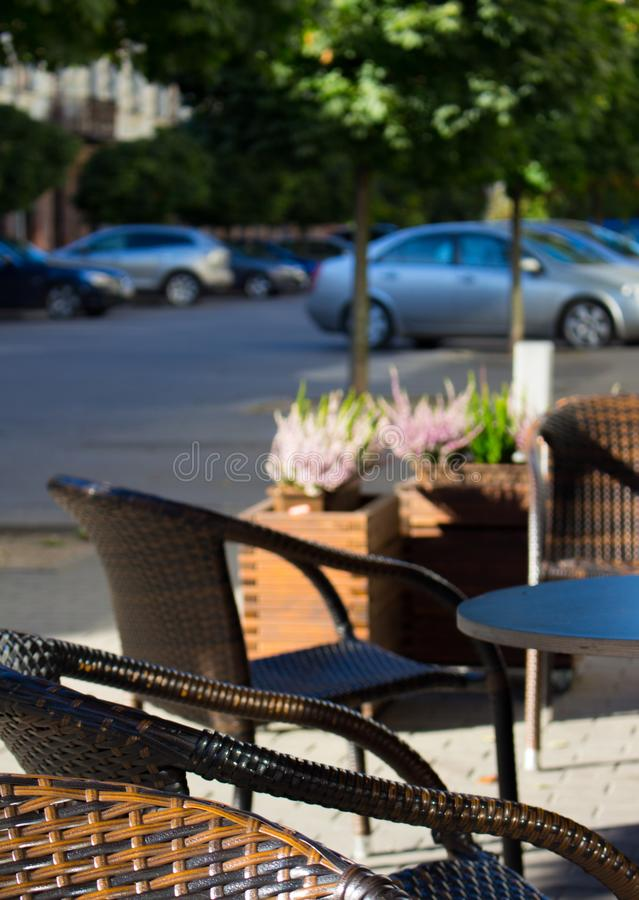 Blur, Cars, Chairs royalty free stock image