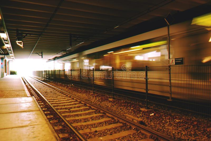 Blur, City, Dark, Fast stock image