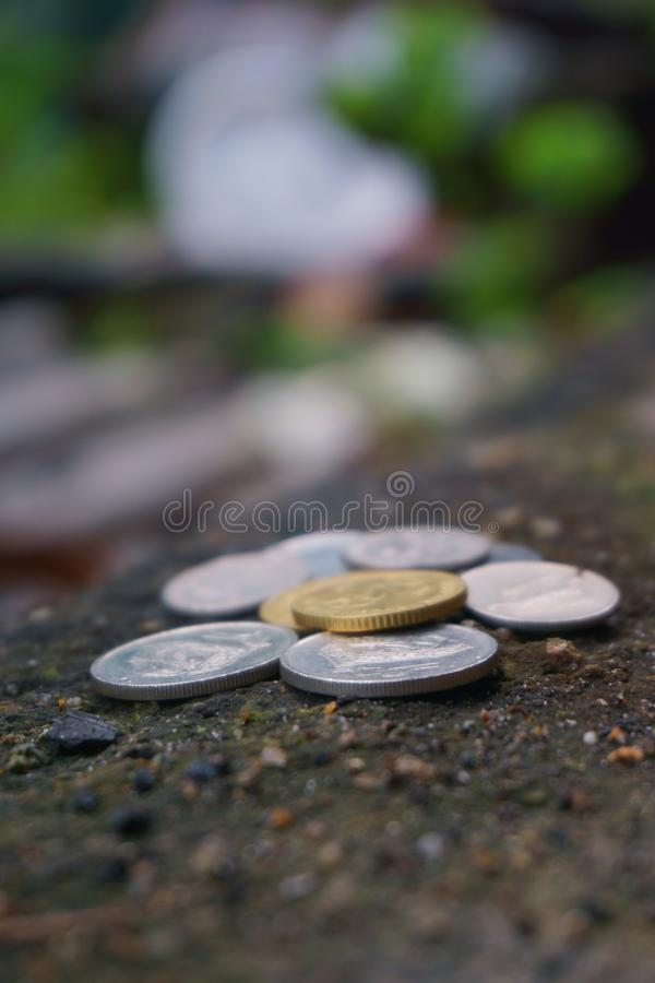 Blur, Close-up, Coins royalty free stock image
