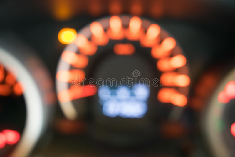 Blur closeup car dashboard. Background stock photography