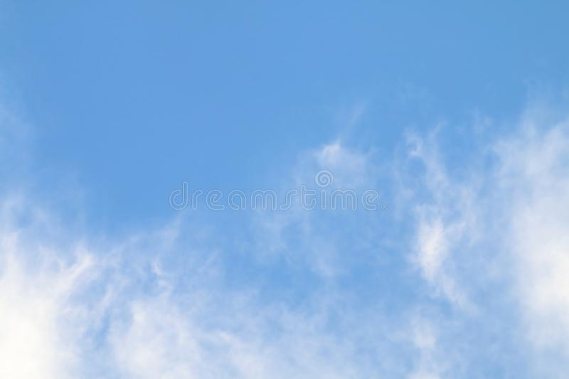 Blur cloud on blue sky. Image of blur cloud on blue sky royalty free stock photography