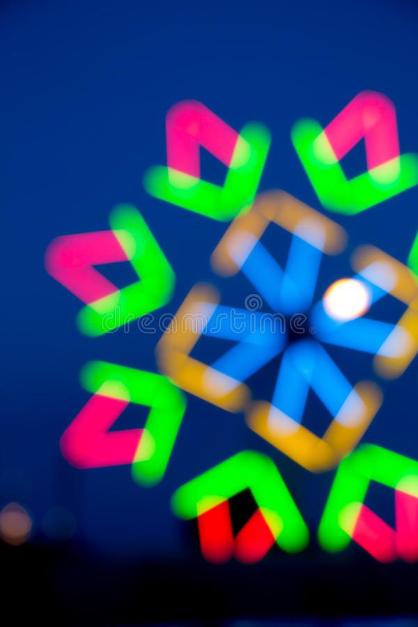 Blur Colorful bokeh at temple in Thailand. Blur Colorful bokeh at temple in Thailand stock image