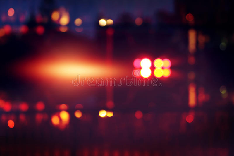 Blur colorful light at music stage at dark night background. stock image
