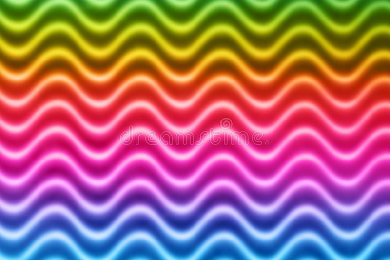 Blur Colorful Waves Pattern. Abstract colorful blur geometric curvy waves pattern stock images