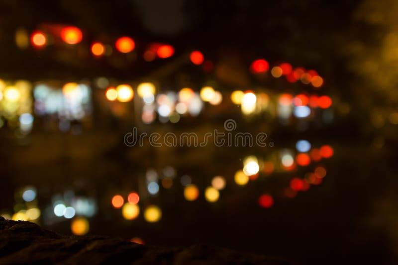 Blur focus night life. At chendu China stock images