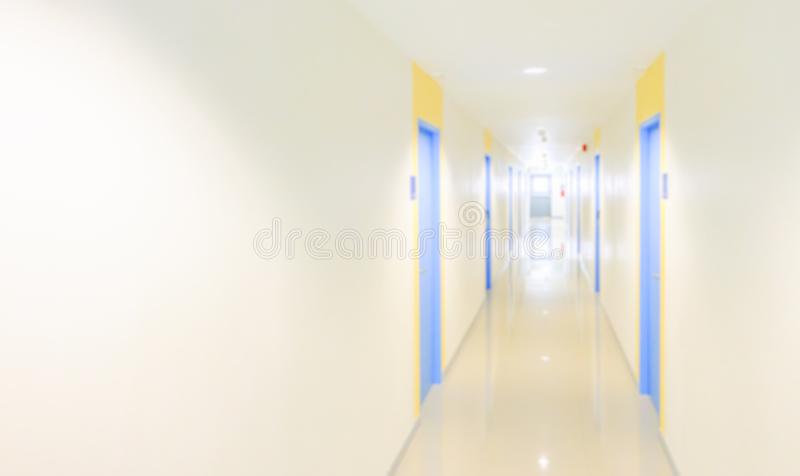 Blur hallway concept for hotel,hospital,office,dorm or apartment royalty free stock photography