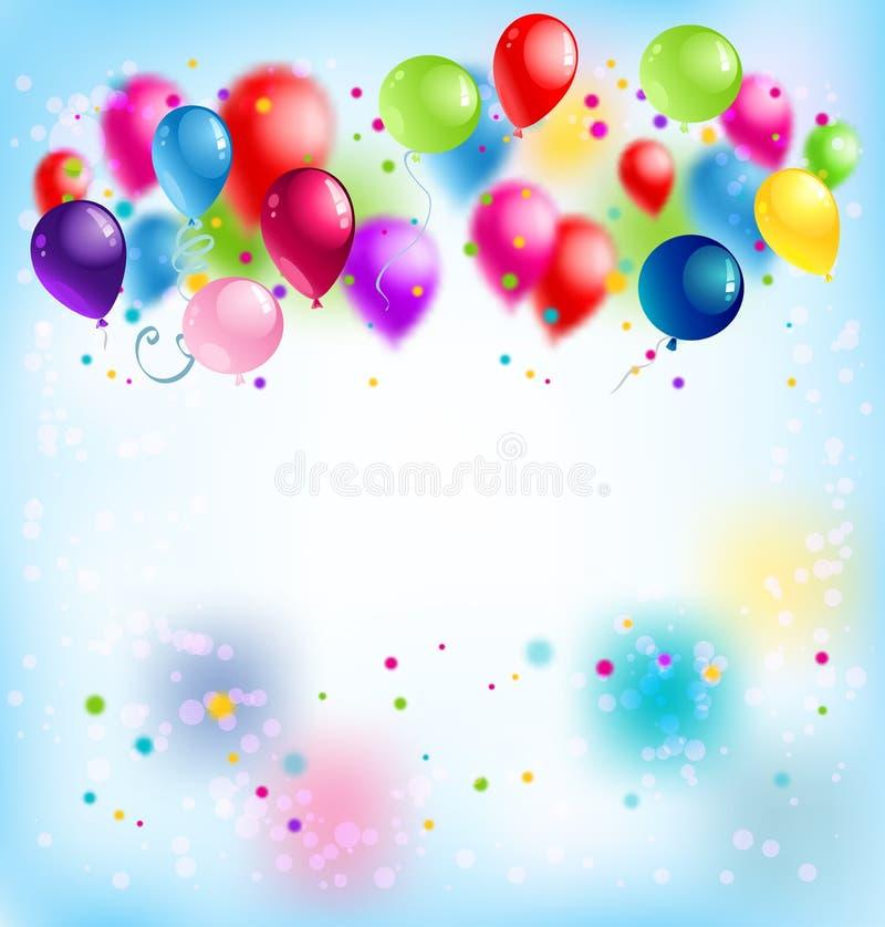 Blur Happy Birthday Card Stock Vector. Illustration Of