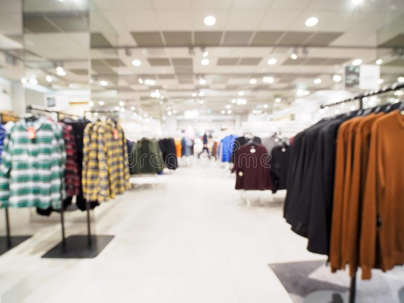 Blur Of Clothing Store As Background Stock Photo - Image ...
