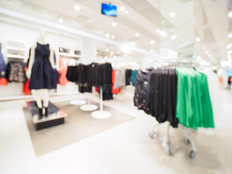 Blur of clothing store as background royalty free stock images