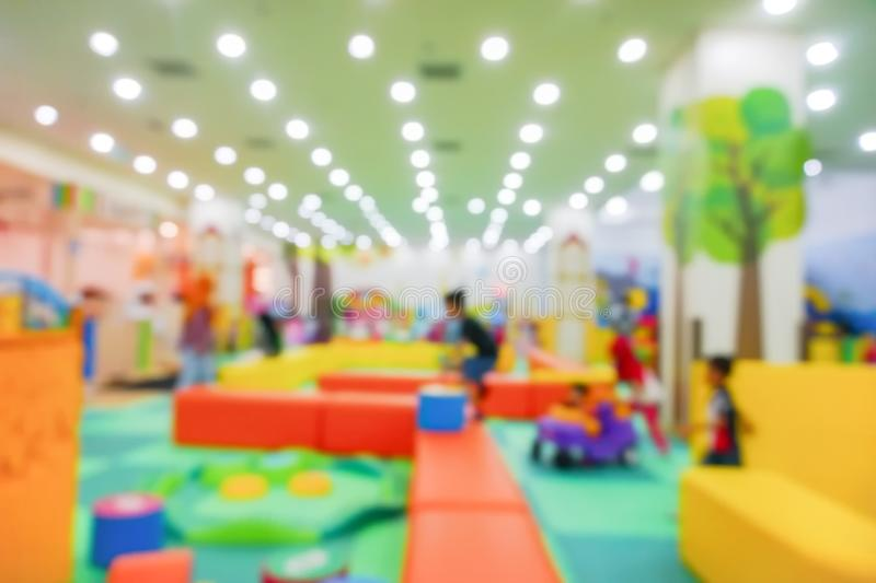 Blur Image of Indoor Playground for kids. Blur Image of Indoor Playground for kids royalty free stock photography