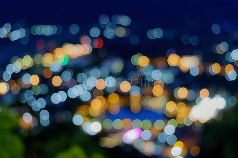 Blur light bokeh of the city. abstrac background. Blur light bokeh of the night city. abstrac background royalty free stock photography
