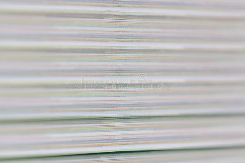 Blur motion of abstract detail color and layer of book paper. Pages thick royalty free stock photography