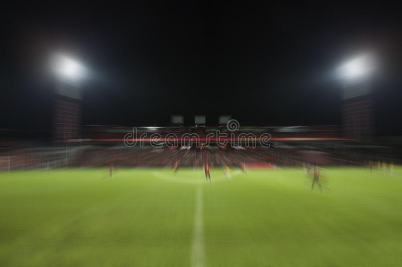 Blur motion of soccer football sport stadium night scene use for. Multipurpose background backdrop royalty free stock photography