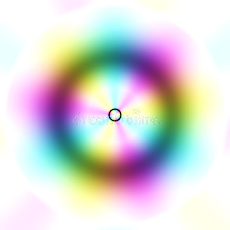 Blur multicolor cirle with white background, abstract blur texture.  stock illustration
