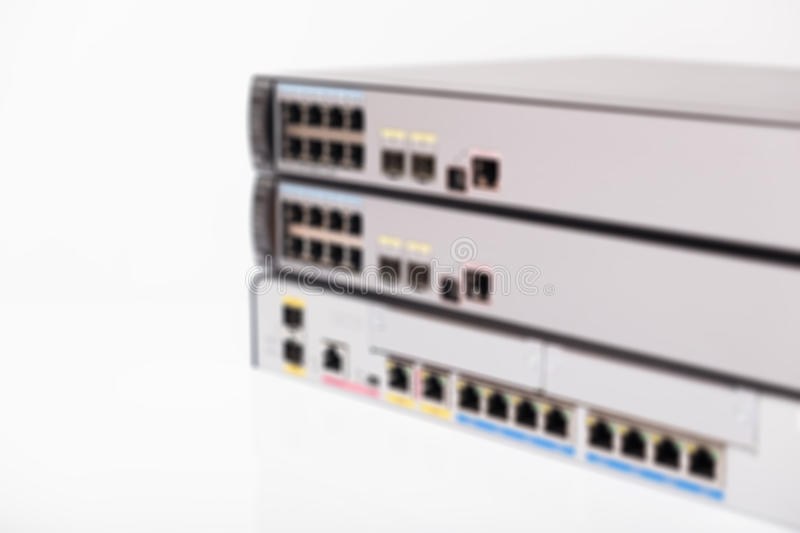 Blur of network switches stock photos