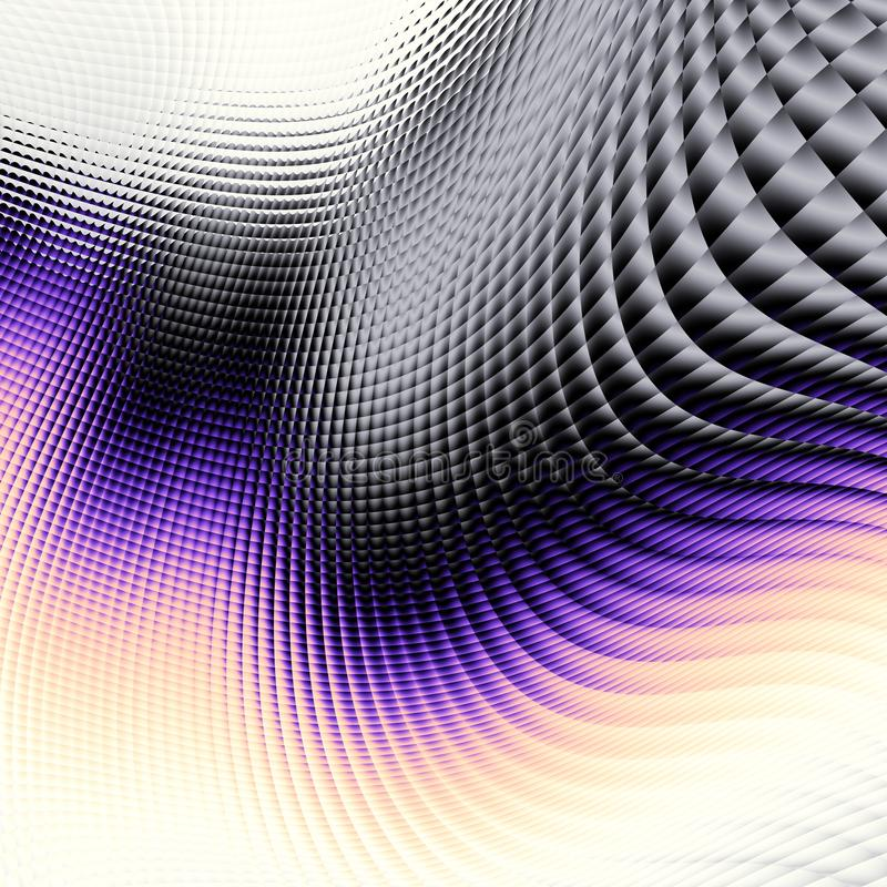 Wavy blur abstract futuristic background vector illustration