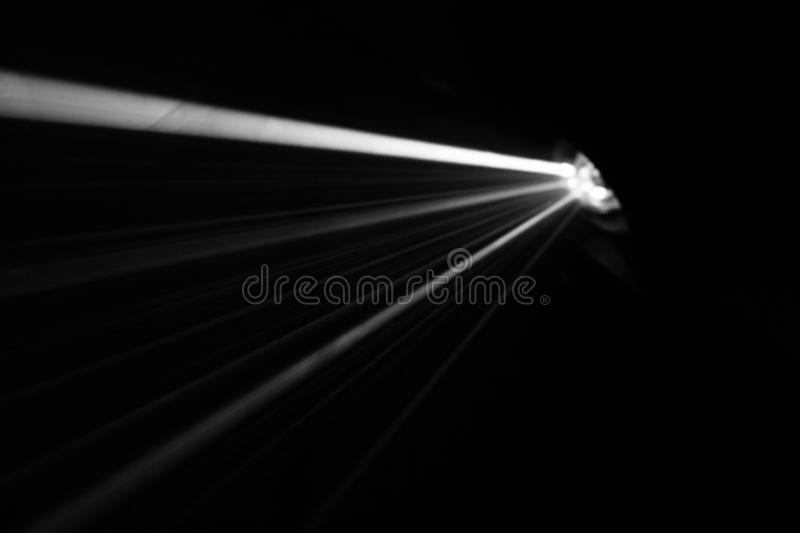 Blur projector beautiful black and white lighting . wide lcd lens equipment for show presentation . smoke abstract background . royalty free stock photography