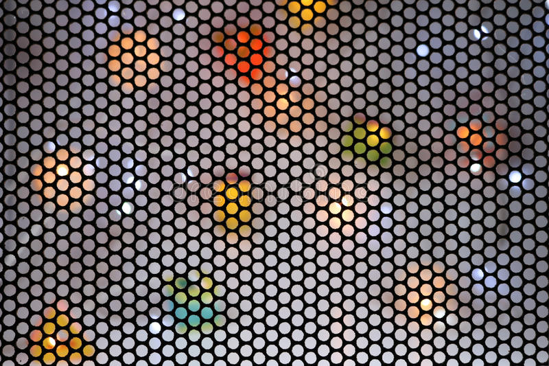 Blur steel mesh with colors light background. royalty free illustration