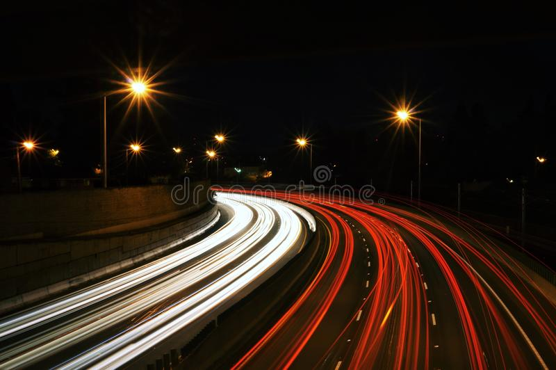 Blur Of Traffic At Night Free Public Domain Cc0 Image