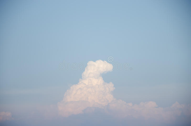 Blure sky with cloud. Beautiful cloud with blure sky stock photography