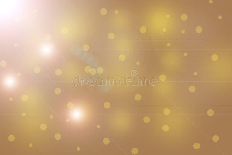 Blured与透镜火光efect的圣诞灯背景 库存例证