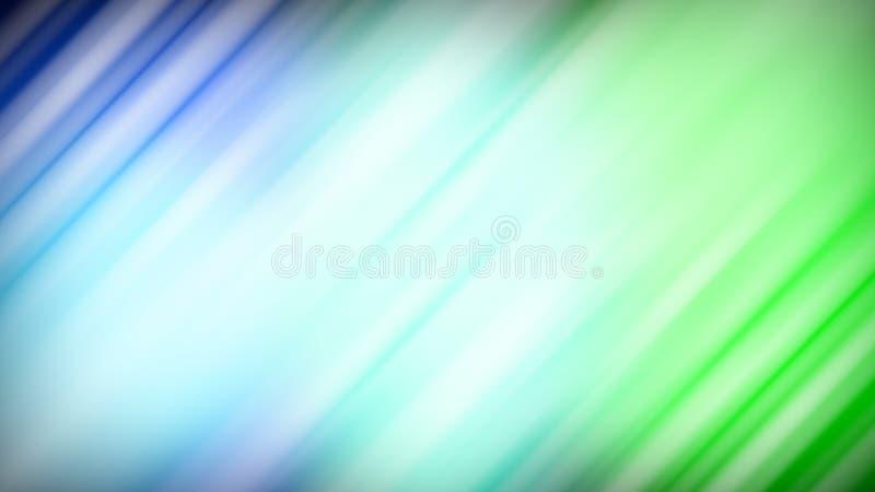 Blured光行动蓝色背景 向量例证