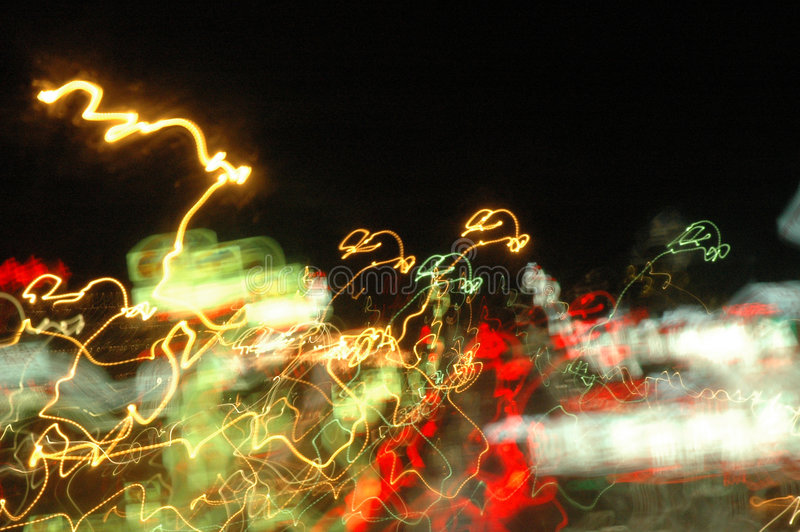 blured光 免版税库存照片