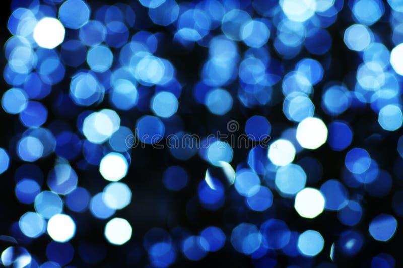 blured圣诞灯 免版税库存照片