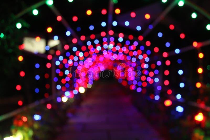 Blured颜色党光徒步道路 图库摄影
