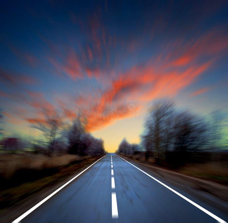blured небо дороги стоковые фото