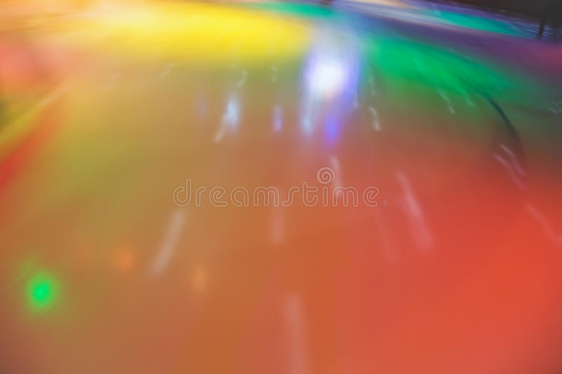 Blured abstract skating rink in movement. Multi-coloured blured abstract skating rink in movement stock photo