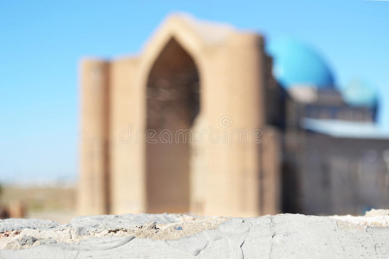 Blured bulding. Blured old oriental bulding in the background royalty free stock images